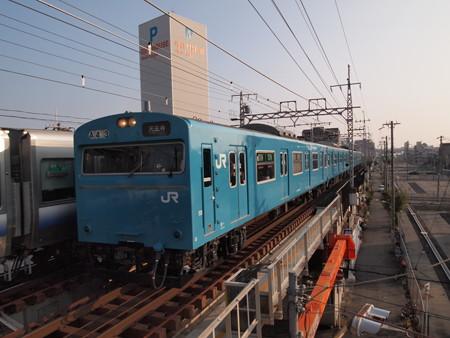 103系4連高運転台 普通 阪和線美章園駅