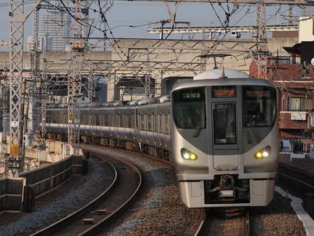 225系関空・紀州路快速 阪和線美章園駅