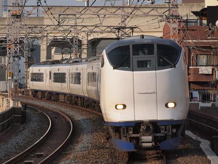 281系特急はるか 阪和線美章園駅3