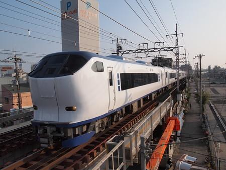 281系特急はるか 阪和線美章園駅2