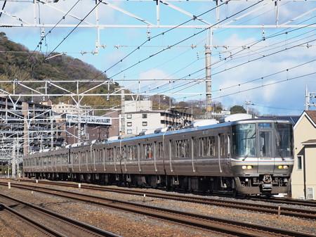 223系新快速 東海道本線山崎~島本