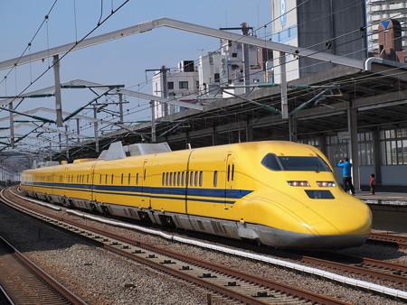 ドクターイエロー のぞみ検 山陽新幹線西明石駅
