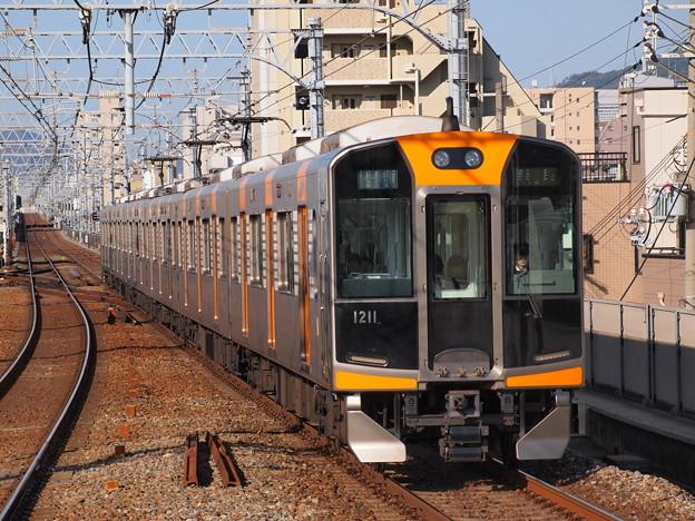阪神1000系快速急行 阪神本線石屋川駅2