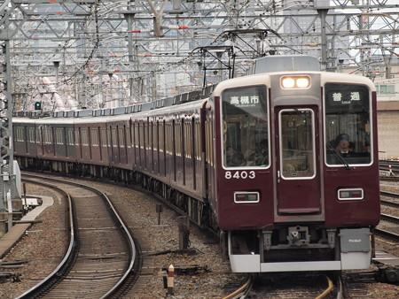 阪急8300系普通 阪急京都線十三駅