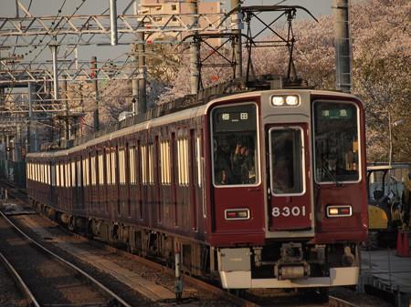 阪急8300系準急 阪急京都線崇禅寺駅