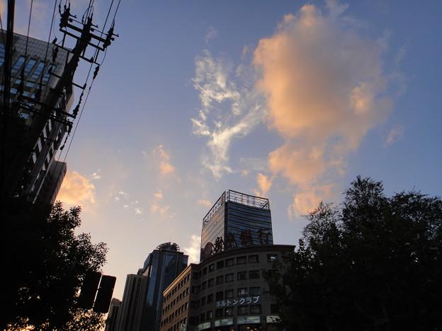 仙霞路×古北路の夕焼け