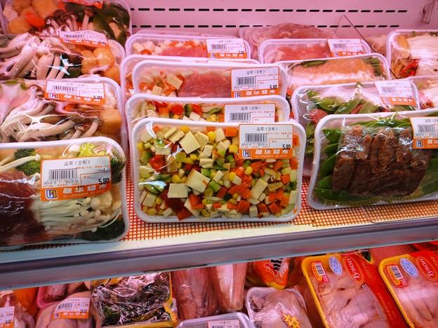 カット野菜と肉類