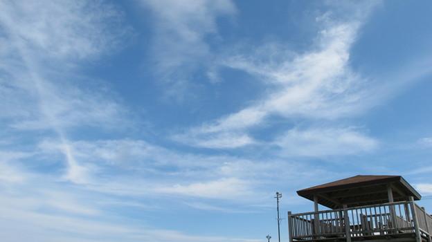 オホーツク海の空