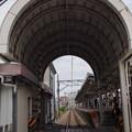 Photos: 線路のトンネル(歩道踏切の屋根)