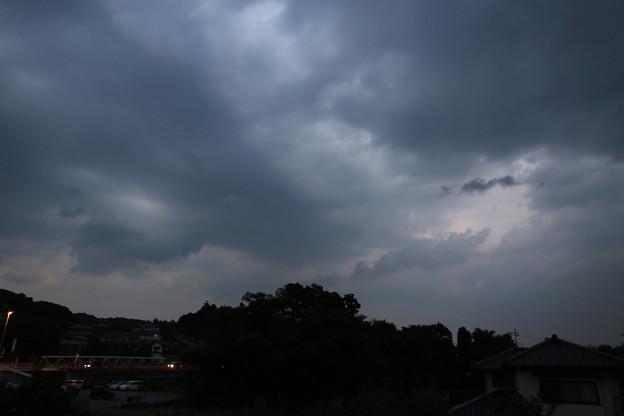 日没直後の空…