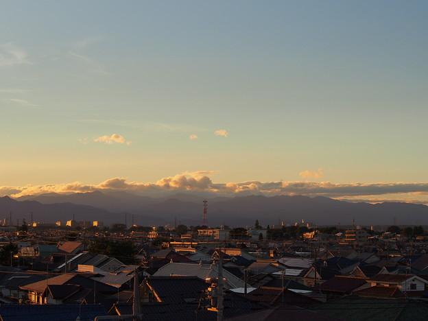 台風一過の空~夕暮れ時