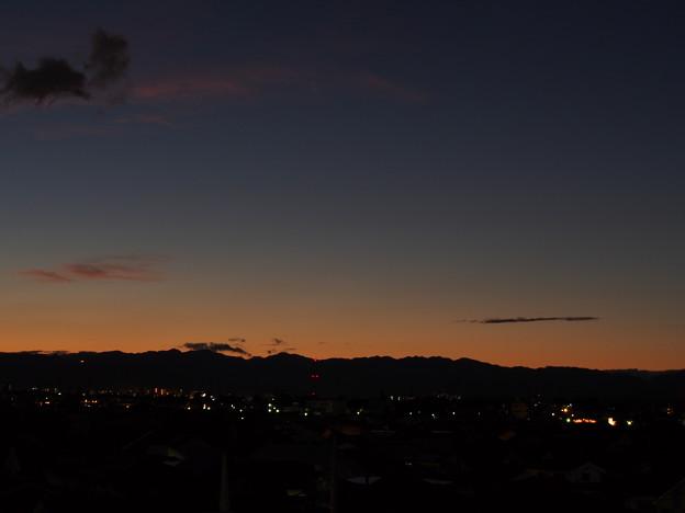 台風一過の空~夕焼けグラデーション