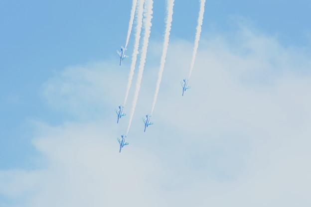 ブルーインパルス編隊飛行&アクロバット飛行