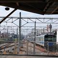 田無駅ホーム西側端の眺め