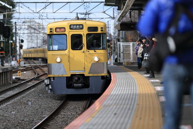 通勤電車~萩山駅より