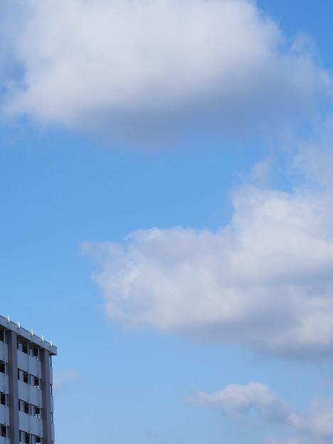 真冬の青空と雲