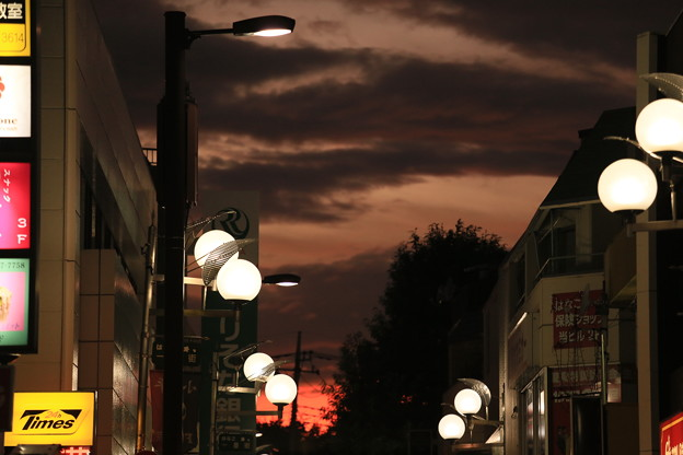 とてもドラマチックな夕景