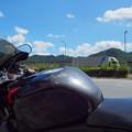 中央高速のPAにて~猛暑の空