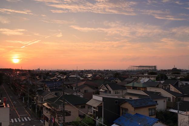 初秋の夕陽