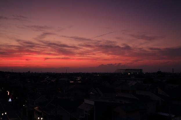 初秋の夕暮れ時