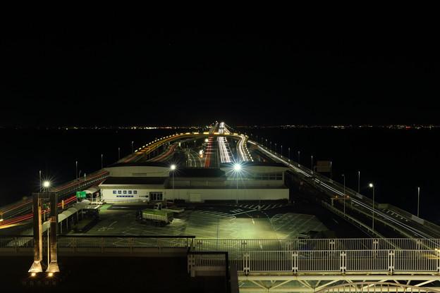 夜の海ほたるPA