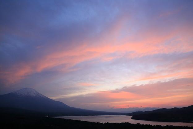 三国峠(パノラマ台)からの夕景