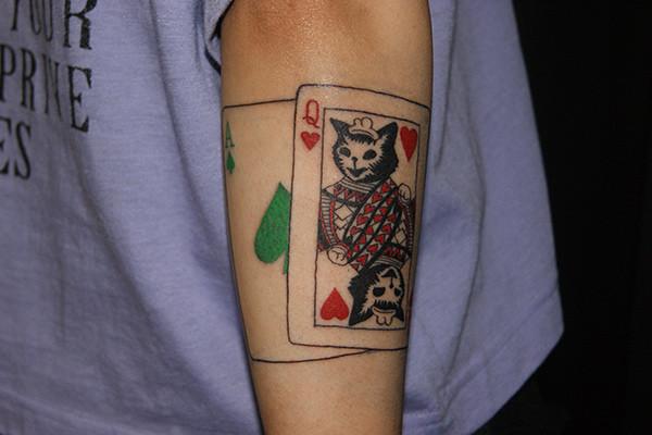 トランプをモチーフにしたタトゥー画像