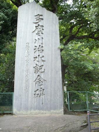 浅間神社-多摩川治水記念碑