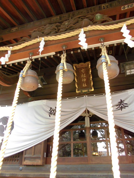 都電荒川線_王子駅前駅界隈:飛鳥山周辺_七所神社-04拝殿b