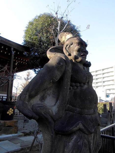 都電荒川線_面影橋駅界隈:亮朝院-07金剛力士像(右)b
