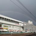 写真: 福島駅上空の虹(1)
