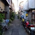 Photos: 赤 青 黄色 な路地