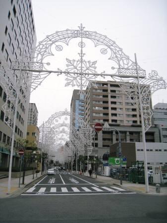 ルミナリエ歩道(東遊園地側)