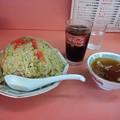 写真: 悦楽苑で昼ご飯~ 普通盛が特盛でコーラがついてきた(゜ ∇゜)