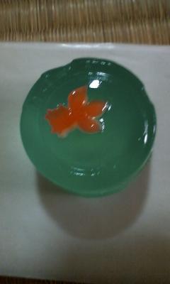 金魚のお菓子 氷の茶会