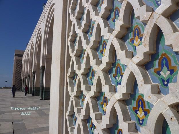 ハッサン2世モスクの真下。