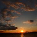 東京湾の落陽