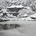 写真: 雪に埋もれる台湾閣