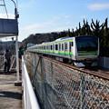 Photos: 神武寺駅から見る専用線のE233系