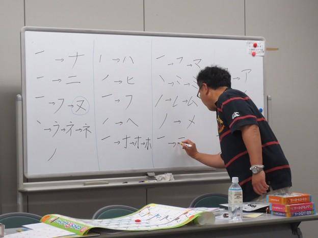 写真は、日本語講座です。