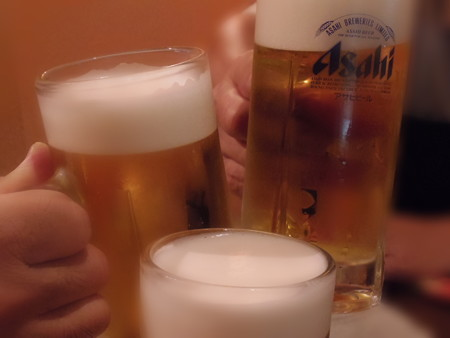 準備後の『乾杯』