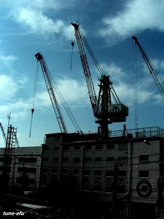 造船所の空