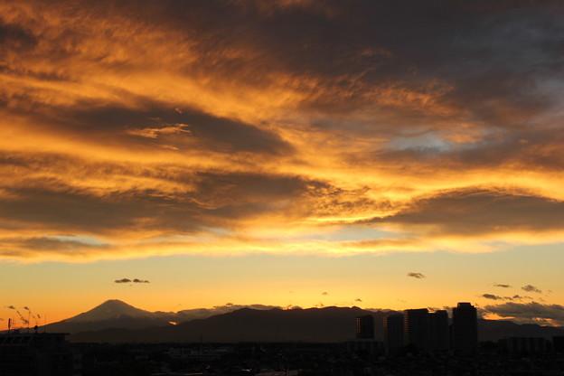 2013年4月3日午後6時6分の西の空