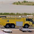 写真: 黄色い消防車