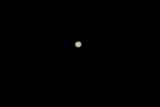 木星の縞模様が 見られました(@@)