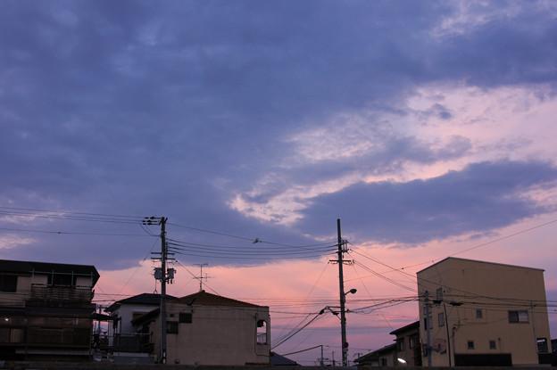 茜色 東の空