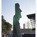 写真: モアイ像の横顔