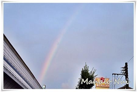 雨が上がって虹が出た