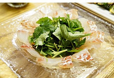 鯛の昆布締めサラダ