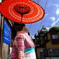 Photos: 傘と着物